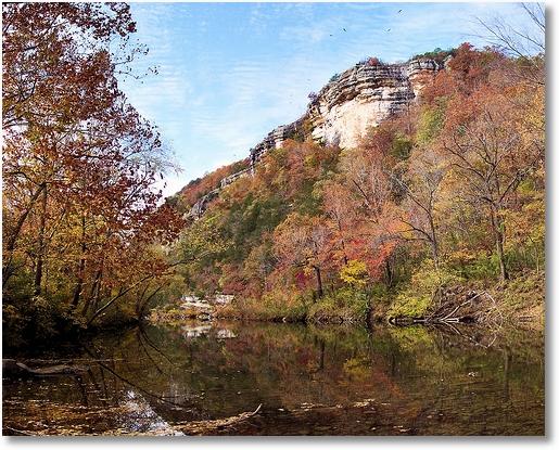 Buffalo River at Kyle Landing - autumn in Arkansas