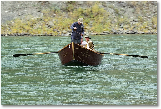 fishing excursion on the Snake River near Jackson, Wyoming