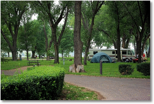 Lake Ogallala campground, Nebraska