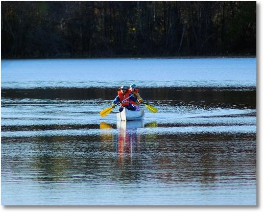 canoe on lake bailey