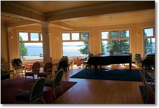 Lake Yellowstone Hotel sun room, Yellowstone National Park, Wyoming
