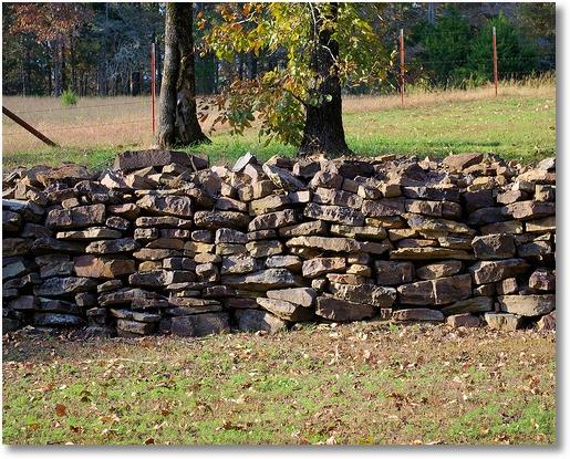 Rock Wall; Woolly State Park, Arkansas