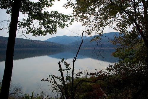 Ozark Highlands Trail along Lake Fort Smith, October 21, 2008, Arkansas
