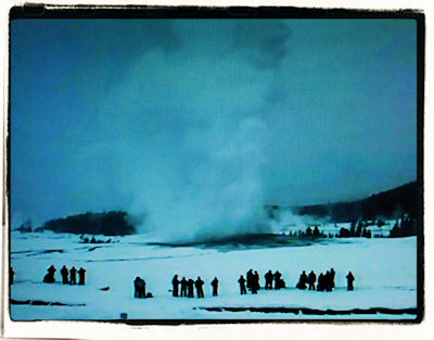 Old Faithful on January 27, 2008 via webcam