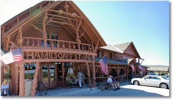 hamilton store at old faithful, Yellowstone National Park
