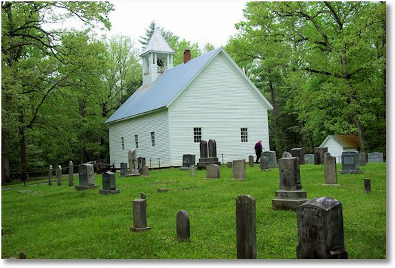 Primitive Baptist Church in Cades Cove, Great Smoky Mountains National Park, Tennesse 5-5-09