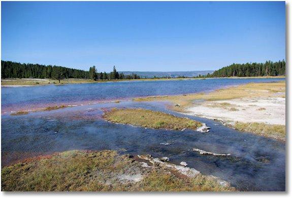 firehole lake, yellowstone national park