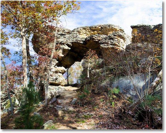natural bridge petit jean state park