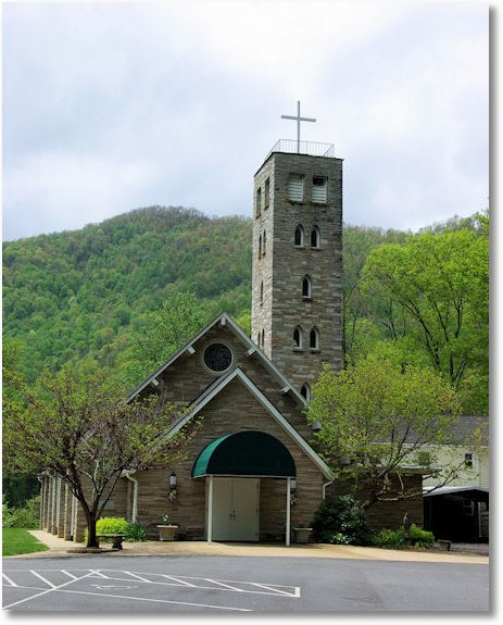 saint margaret of scotland catholic church, Maggie Valley, North Carolina, adjacent to Great Smoky Mountains National Park