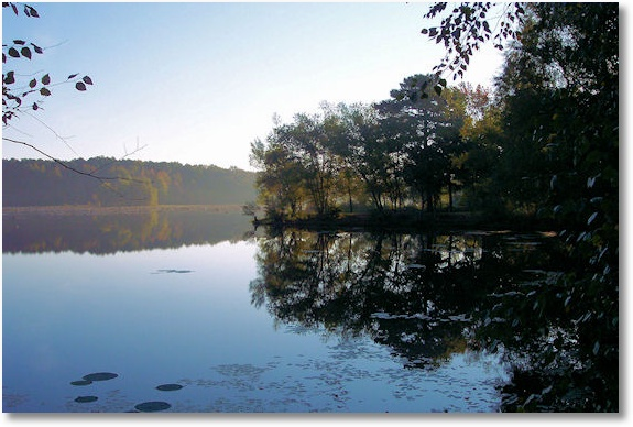 Lake Bailey, Petit Jean State Park, Arkansas, early morning, October 2006