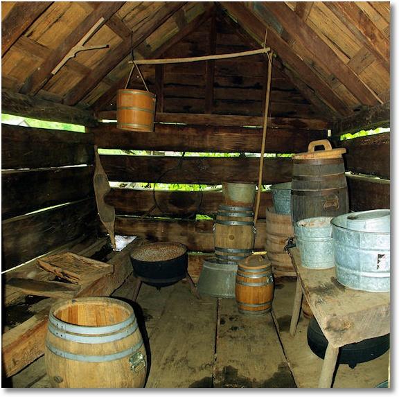 Springhouse, Moutain Farm Museum, Great Smoky Mountains national park, near Cherokee, North Carolina 5-6-09