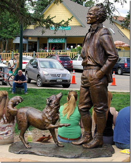 Enos A. Mills - father of Rocky Mountain National Park, Bronze, Estes Park, 2009