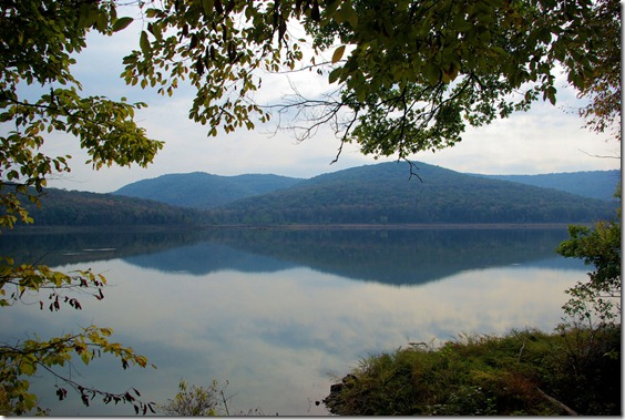View from Ozark Highlands Trail along Lake Fort Smith, October 21, 2008, Arkansas