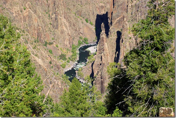 Gunnison River in Black Canyon of the Yellowstone National Park