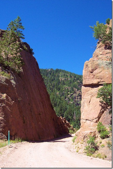 Phantom Canyon Road, Gold Belt National Scenic Byway, Colorado, August 26, 2004