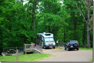 Camping Area B, Village Creek State Park, Arkansas, April 19, 2010 - our camper