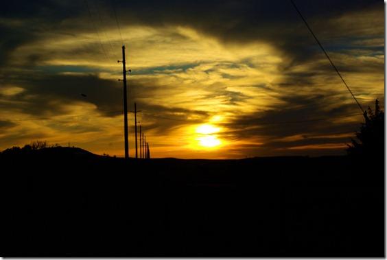 sunset near Douglas, Wyoming, July 9, 20101