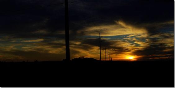 Sunset near Douglas, Wyoming