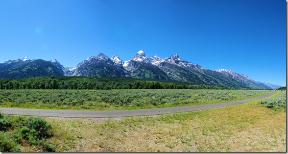 Teton Mountains - composite image from 3 photos.