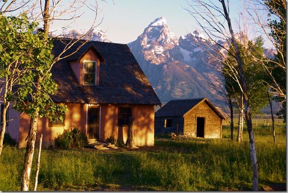 Teton Morning - from Mormon Row, July 19, 2010, Grand Teton National Park, Wyoming.