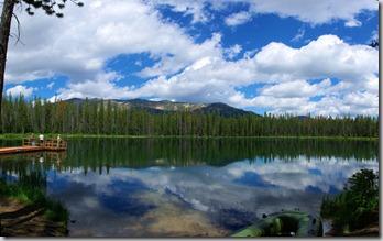 Martin Lake next to Bull Creek Campground