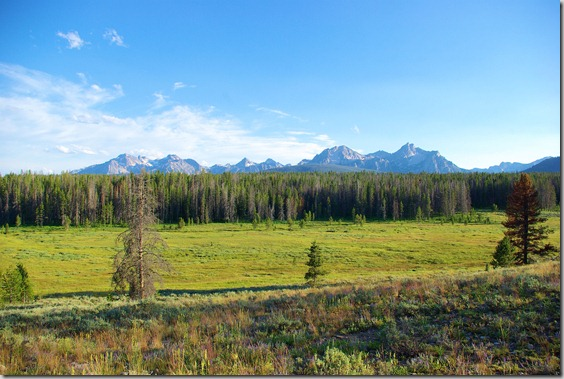 Sawtooth Mountains near Stanley, Idaho