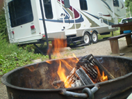 RV camping with many of the comforts of home!  Camping & Cabins; Grand Mesa Uncompahgre and Gunnison National Forests