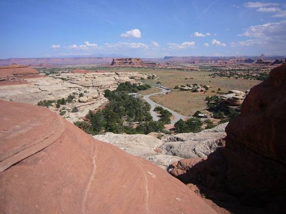 Squaw Flat Campground, Needles District, Canyonlands National Park, Utah, loop A from above.