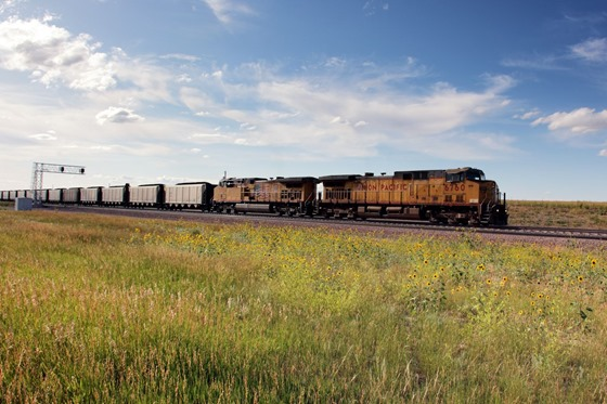 Train near Casper, Wyoming