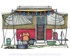 Shasta Travel Trailer Art Drawing - Richard Neuman, Artist
