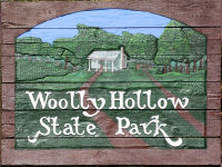 Woolly Hollow State Park Sign